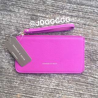 Charles & Keith Leather Wristlet (Purple)