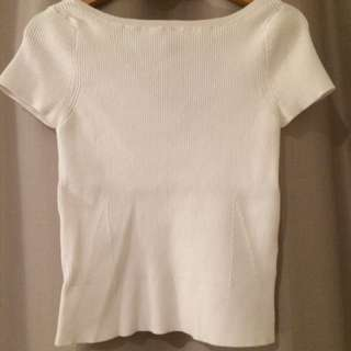 Portmans White Ribbed Sweater (S)