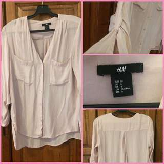 H&M Light Pink Shirts