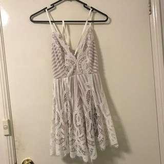White Lace Mini Jumpsuit/romper