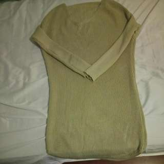 khaki long jumper