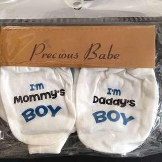 222-0068  Baby Boy Mitten