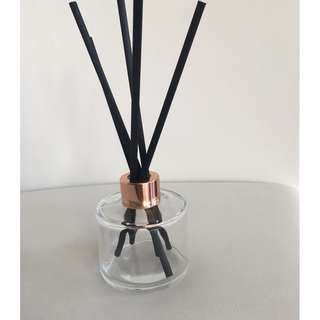 LUXURY 200ml CLEAR BOTTLE REED DIFFUSER WITH ROSE GOLD/COPPER LID