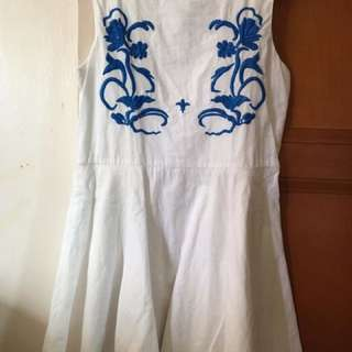 Gingersnaps white embroidered dress