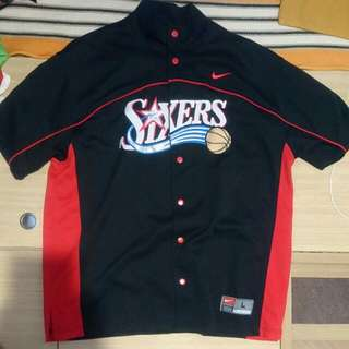 Nike 76ers Sixers Short Sleeves Jacket All Sewn