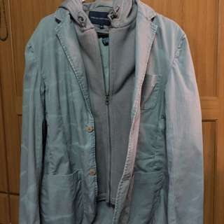 French Connection Blazer with Inner Hoodie - Size 42