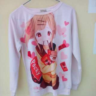 Sweater Anime Soft Pink