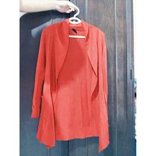 Red Cardigan Size L Php 250