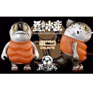 豆芽社長 INSTINCTOY 鮭魚 鮪魚前輩 軟膠 設計師 玩具 現貨