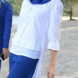 White Shirt Fish Tail