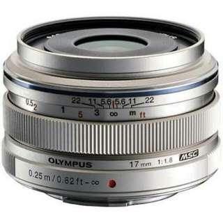 Olympus Mzd 17mm 1.8 Micro Four Third