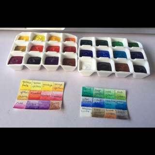 Portable Watercolor Travel Palette (handmade)