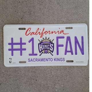 PRICE DROP!! - NBA Sacramento Kings Number plate