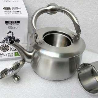 🚚 SODAMAIN 仙德曼 304高級不鏽鋼茶壺 1.2L SS120 茶壺/不銹鋼/附濾網筒/