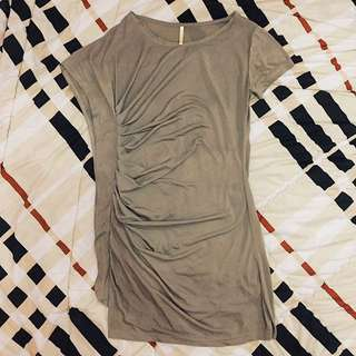 Basic Brown Dress By Mineola