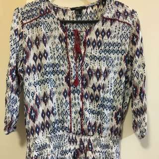 Medium FOREVER21 Tribal/ Festival-themed Tunic