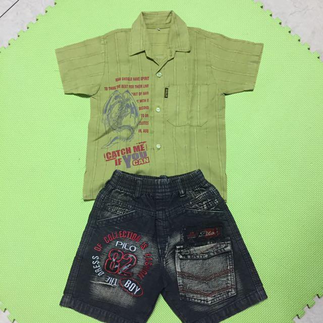 1 Set Atasan + Celana Anak Laki2