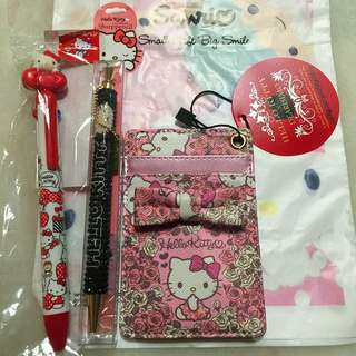 Hello Kitty Items From Japan - Pen, Pencil & Card Holder