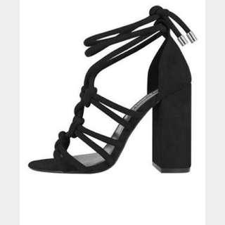 Senso Vanita Black Block Heels Size 10/41 NIB RRP265