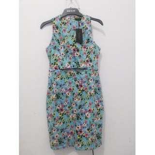 Blue Floral Dress (EZRA by ZALORA)
