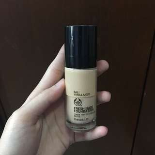 (reprice) The body shop Fresh nude foundation