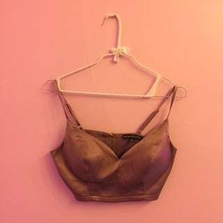 M Boutique Satin Crop Top