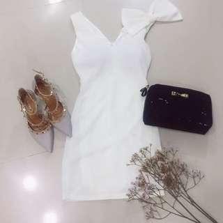 韓國氣質蝴蝶結典雅小禮服