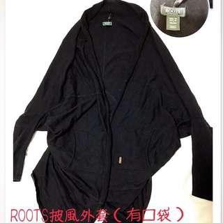 ROOTS披風外套(有口袋)