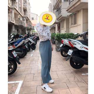 淺藍氣質長褲👍👍材質推推ㄛ#女裝五折出清