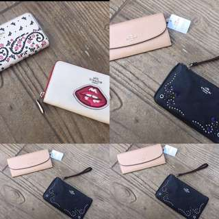 Coach Wallets. 100% Auth & New