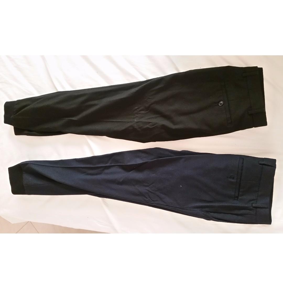 PRICE DROP!! - 2 x ASOS Men's Jogger Pants (Navy and Black Size 28, Length Short