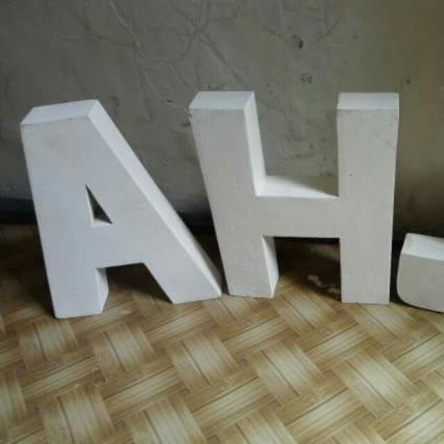 3D Wooden Letter Standees