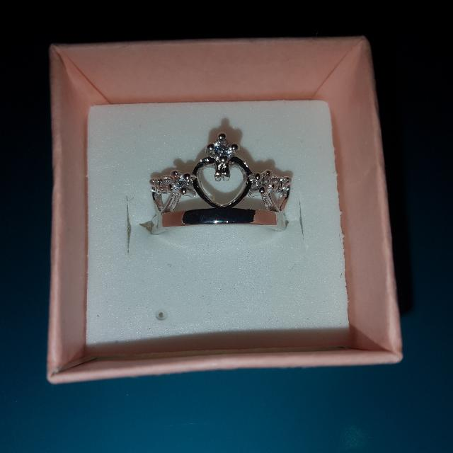 925 Stamped Princess Crown Ring