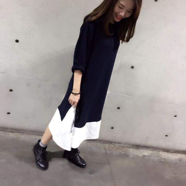薄針織長洋裝