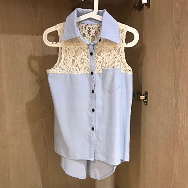 氣質無袖上衣 #一百元上衣 #我的旋轉衣櫃