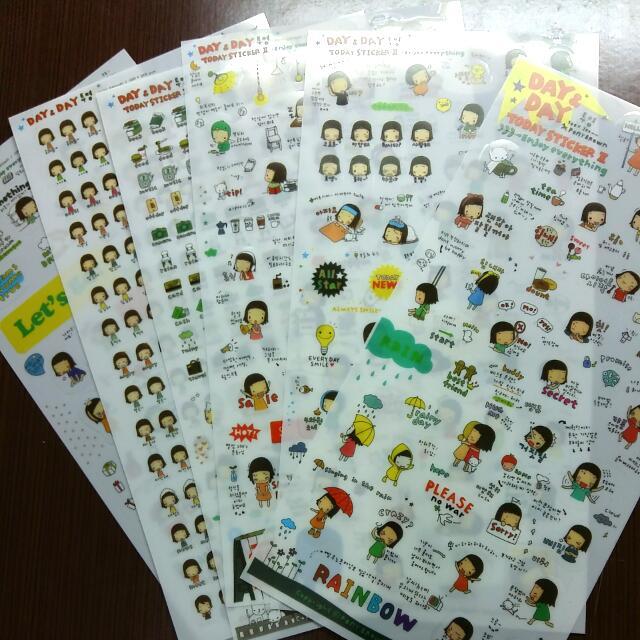 韓文 小女孩 透明貼紙