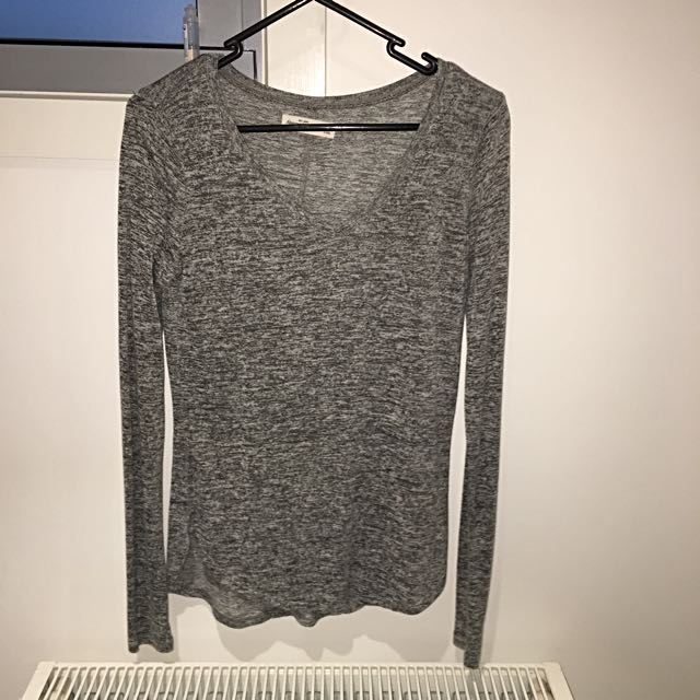 Abercrombie And Fitch Grey Longsleeve