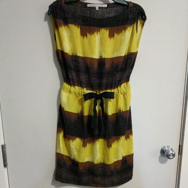 Above the knee Rachel Roy sun dress with adjustible waist and with pockets