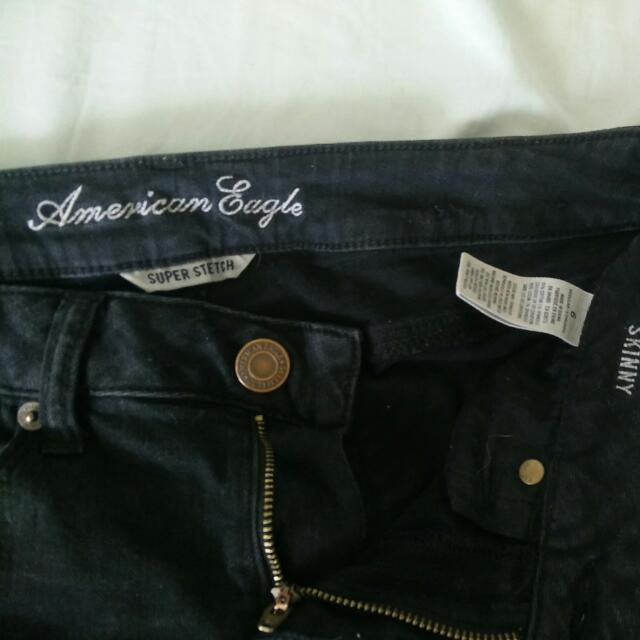 AE Black Skinny Jeans: Size 6