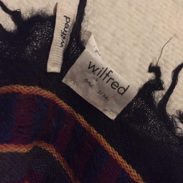 ARITZIA WILFRED Blanket Wool Scarf Oversized