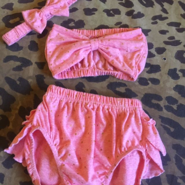 Baby Rompers With Headpiece