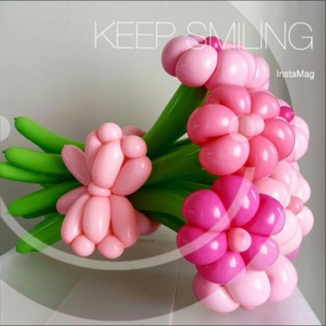 Handmade Balloon Flower Bouquet, Design & Craft, Art & Prints on ...