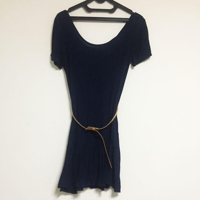 bershka dress + belt (ori)