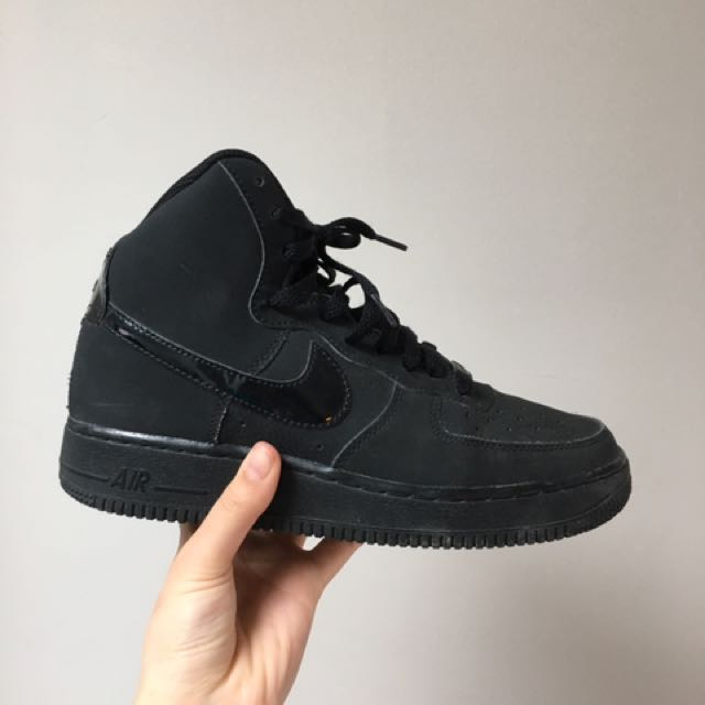 Black Hightop AirForce 1's