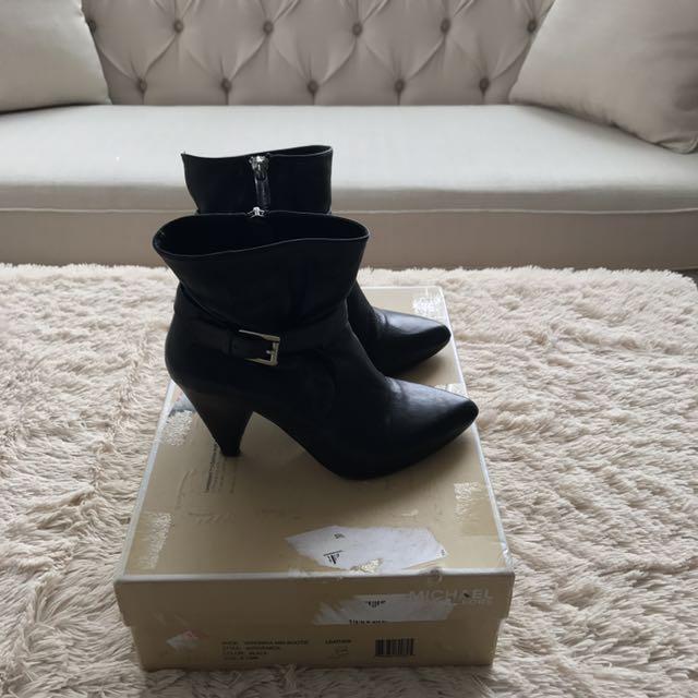 Black Michael Kors Booties Size 6
