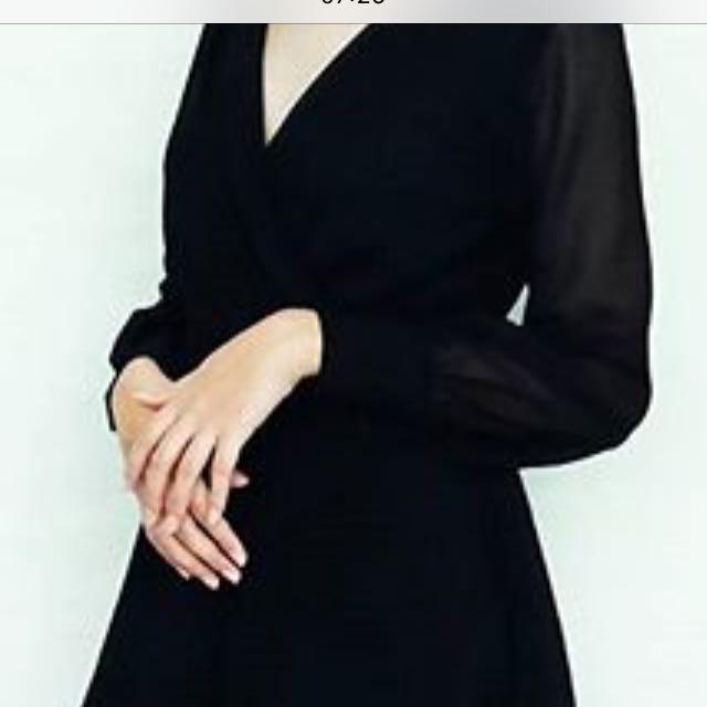 Black V Neck Jumsuit Dress