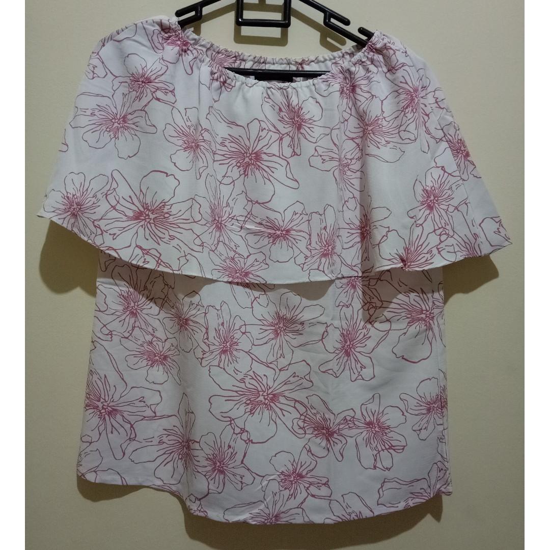 Blouse Bunga Pink