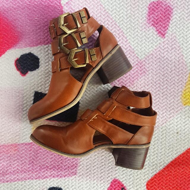 Brand New Forever 21 Summer Ankle Booties