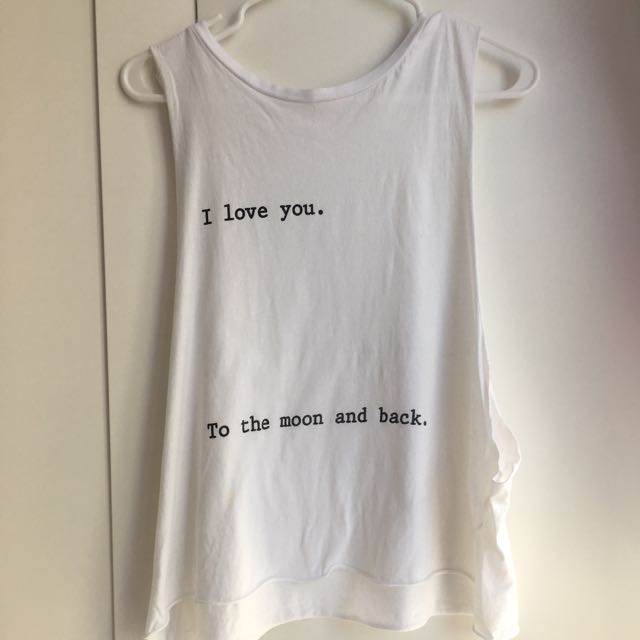 """Brandy Melville """"I Love You To The Moon & Back"""" Tank"""