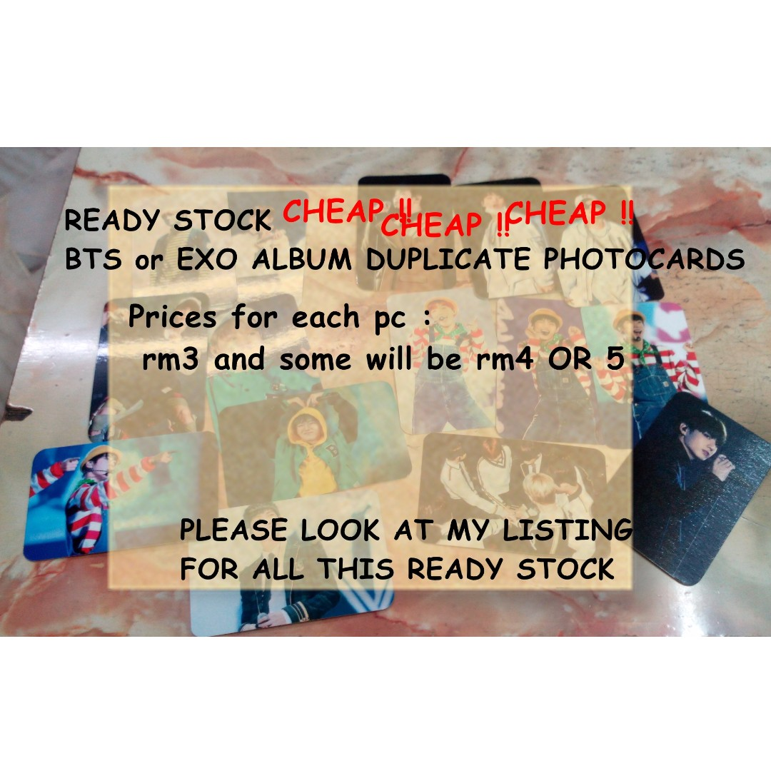 BTS DUPLICATE ALBUM PHOTOCARDS